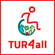 Logo de la aplicación TUR4all, Apple Market y Google Play